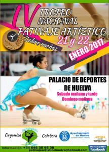 Cartel del Campeonato de patinaje que se celebra este sábado y el domingo en Huelva.