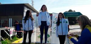 Los representantes del RCMH, asiduos en el podio en la prueba celebrada en Puerto Real.