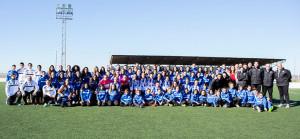 Más de cien jugadoras forman parte de la cantera del Sporting.