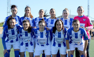 Formación del Fundación Cajasol Sporting en el partido ante el Real Betis.