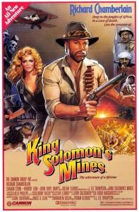 Cartel de la conocida película 'Las Minas del Rey Salomón', protagonizada por Richard Chamberlain. / Foto: Filmaffinity.
