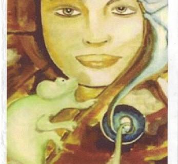 La artista portuguesa Manuela Santos lleva a Ayamonte la muestra 'Ciclos de la vida del Camaleón'