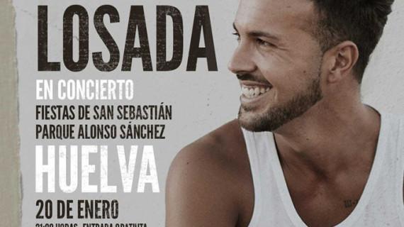 Moisés Losada y Antonio José abren los conciertos de las Fiestas de San Sebastián en Huelva