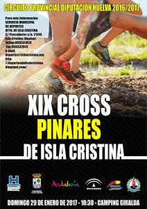 Cartel anunciador de la prueba que tendrá lugar en Isla Cristina.