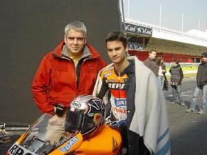 Con Dani Pedrosa.