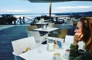 En El faro en el Rompido, uno de sus lugares favoritos de Huelva.