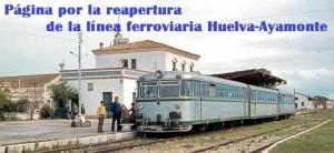 Portada de la página de facebook creada para reabrir la línea ferroviaria Huelva-Ayamonte.