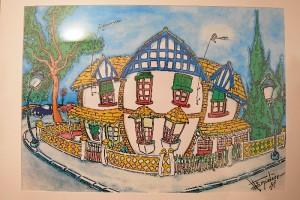 La exposición presenta cuarenta y siete láminas relativas a edificios de interés de Huelva