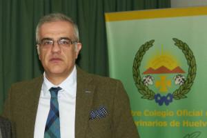 Fidel Astudillo, presidente del Colegio Oficial de Veterinarios de Huelva.