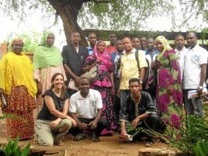 Junto al equipo de ACH con el Mayte participó en una formacion en Keita, pueblo al que se desplazó unos dias por trabajo.
