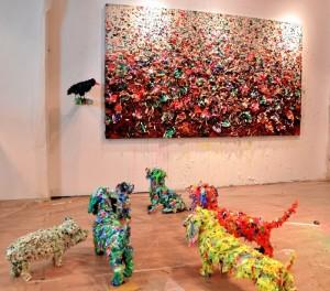 Esculturas de animales  basadas en la evolución de su pintura.