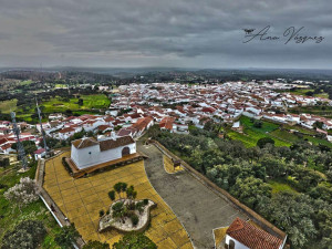 Vista aérea de Villa La Palmera.