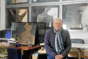 Juan Carlos Castro Crespo en su casa-estudio.