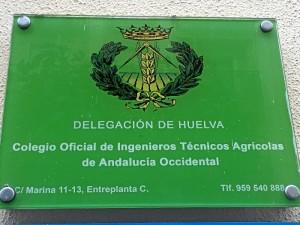 La sede del Colegio de Ingenieros Técnicos Agrícolas se encuentra en la calle Marina de Huelva.