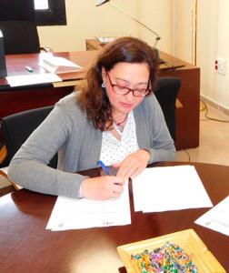 Manuela Romero Landa, presidenta del Fundación Cajasol Sporting.