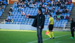 Primer partido en casa en el que Pavón pudo estar en el banquillo del Recre. / Foto: Pablo Sayago.