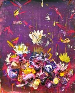 l color es uno de los elementos que más destaca de la obra del artista. En la imagen, el trabajo 'Queen of the night'.