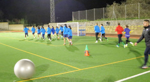 Las jugadoras del Sporting han comenzado sus entrenamientos semanales con la mente puesta en el duelo en el Colombino.