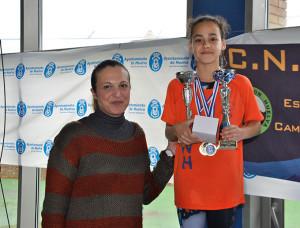 Irene Sánchez, mejor nadadora del Trofeo.