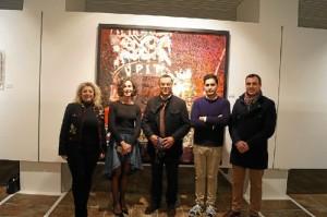 La exposición 'From...To' del artista onubense puede visitarse hasta el 9 de febrero en la Sala de la Provincia de la Diputación.