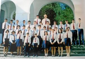 Imagen de Ian Murray, fallecido de forma repentina en 1996, al frente de la Banda Juvenil de Música de Aracena, donde estuvo Carmelo. / Foto: Banda Municipal de Aracena.