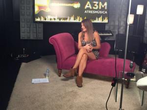 Durante una grabación del programa.