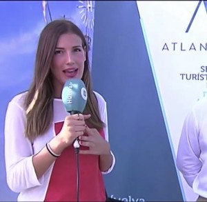 Almudena hizo prácticas en Huelva TV.