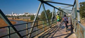 Imagen del puente sobre el río Odiel en Gibraleón.