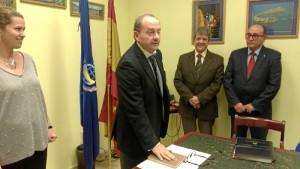 Leandro, en la toma de posesión del presidente de Ingite, entidad en la que es vocal económico. / Foto: http://www.ingite.es