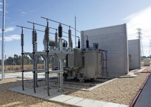Subestación eléctrica Pinzón, del trasvase de 4,99 hm3.