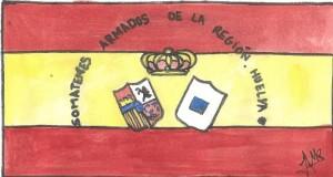 Recreación del somatén onubense del artista José Ángel Martínez Rodríguez.