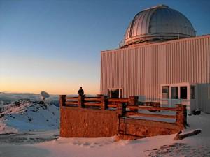 En el observatorio de Sierra Nevada (Granada) donde hizo la tesis doctoral.