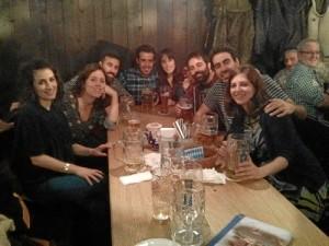 Amigos con los que hizo el doctorado, que, a día de hoy, todos trabajando fuera de España.