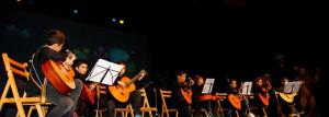 Alumnos del Conservatorio isleño.