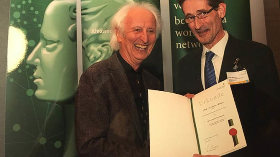 El catedrático de la UHU Javier Barnes recibe el prestigioso Premio Humboldt