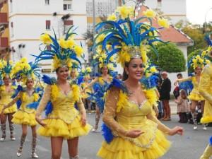 Cabalgata de Carnaval celebrado en Ayamonte.