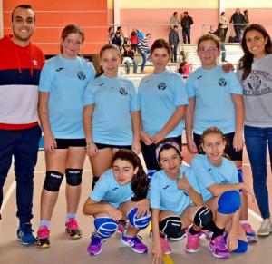 El CD Juventud Villarrasa, uno de los participantes en el Campeonato de Andalucía de voleibol.