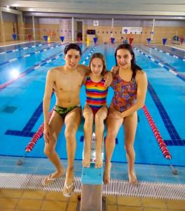 Gonzalo Martínez, Helena García y Paula Pulido, tres de los deportistas destacados en el CN Colombino.