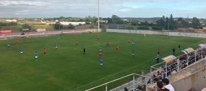 El Cartaya no pudo pasar del empate en casa con el Xerez Deportivo. / Foto: @XerezCD_OFICIAL.