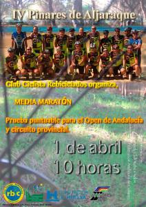 Cartel anunciador de la prueba ciclista que se celebrará en Aljaraque el 1 de abril.