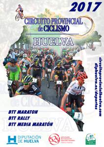 Cartel del Circuito Diputación Huelva BTT Media Maratón.