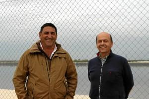 El secretario de la Comunidad Antonio Luís Martín y el presidente, Pedro Tejada.