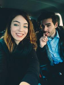 Cristina González y Manuel Toscano, un día del rodaje.