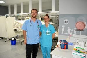 Personal sanitario encargado del proyecto en el Hospital Costa de la Luz.