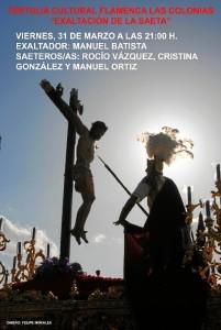Cartel del evento que se celebrará en la Tertulia Flamenca Las Colonias.