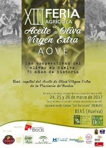 Cartel de la XIII Feria Agrícola del Aceite de Oliva Virgen Extra.