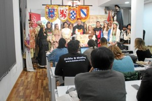 Un momento de la presentación de la XVII Feria Medieval de Descubrimiento.