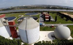 Vista aérea de la Estación Depuradora de Aguas Residuales (EDAR).