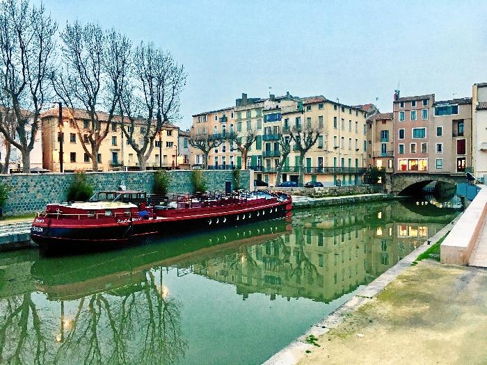 Canal de la Robine, en Narbona, donde tuvo lugar el suceso con final feliz.