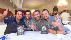 Los cuatro ganadores de la Panda Raid 2017.